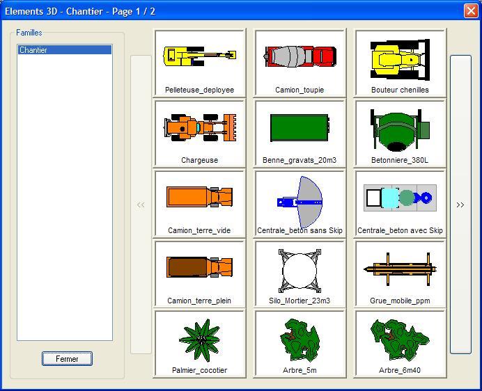 Differentes elements d une installation de chantier